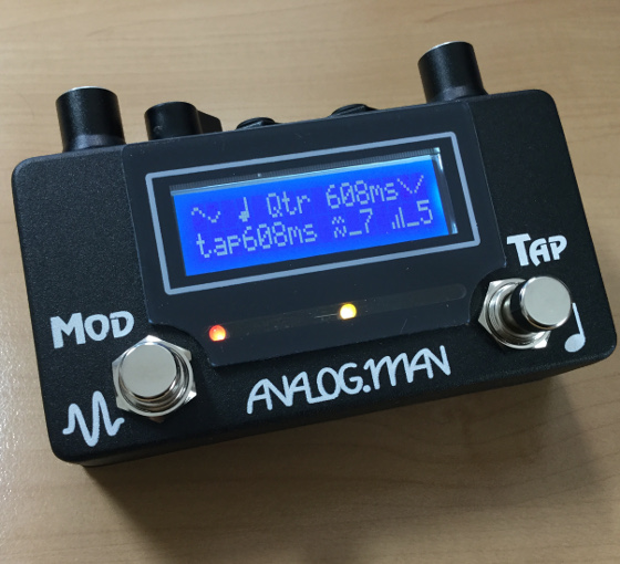 Analog Man AMAZE1 Analog Delay Tap Tempo and Modulation Controller pedal