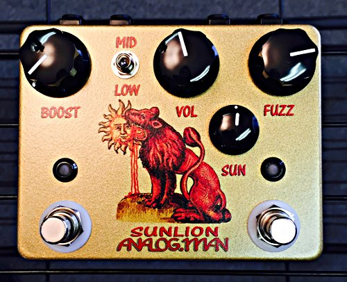 Analog Man Sun Lion Fuzz Booster Pedal