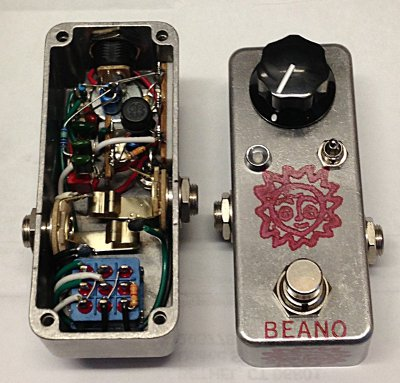 Analogn Beano Boost Treble Booster Effects Pedal