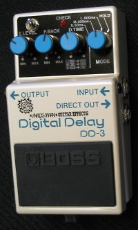 Boss DD-3/Hicut Digital Delay Pedal