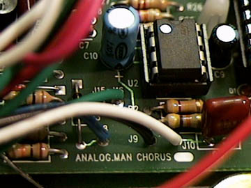 analog man chorus pedals on the left you can see a closeup view of the circuit board the circuit board is double sided plated through holes as used by the military