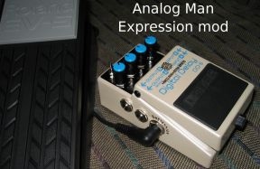 Boss expression pedal mod