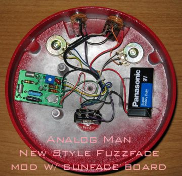 analog man sun face and fuzz face page fuzz face electronics diagram it will look like this after the mod
