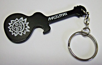 Analog Man Guitar Keychain Bottle Opener