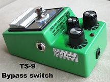 TS9 with true bypass switch