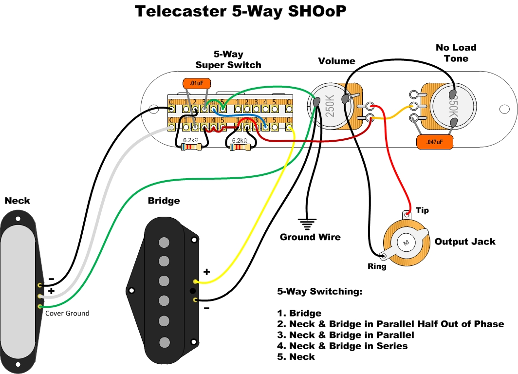 Analog Man Jim Weider Big T Telecaster Neck Pickup 69 Thinline Wiring Diagram If You Have Both Of Our Pickups Can Use A 5 Way Super Switch Made By Fender For Some Awesome Sounds In Addition To The Three Normal Tele